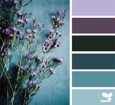 ✮ Color Nature 75 Feb 12 Made Design Seeds ® 2019 Colour Pallette, Colour Schemes, Color Combos, Lavender Color Scheme, Purple Color Palettes, Seeds Color Palettes, Decorating Color Schemes, Interior Design Color Schemes, Nature Color Palette