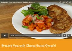 Breaded Veal with Cheesy Baked Gnocchi Recipe Baked Gnocchi, Gnocchi Recipes, Crab Recipes, Pie Plate, What To Cook, Main Dishes, Spaghetti, Pride, Canada