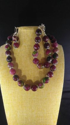 Check out this item in my Etsy shop https://www.etsy.com/listing/514259918/multi-color-agate-jewelry-set-vibrant