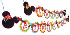 Luau Minnie Mouse Inspired Bright Tropical by ScrapsToRemember
