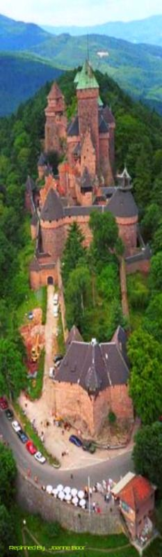 Haut-Koeningsbourd Castle, in Alsace, France.