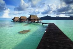 50 Best Overwater Bungalow Photos from Tahiti | Exotic Travel | Islands
