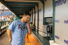 Jerry Depizzo from O.A.R. making a call to the bullpen.