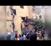 Egypt News | Raw Video: Egypt Police Station Burns!