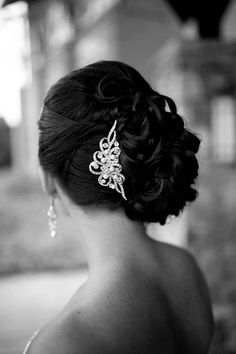 AUDREY Vintage Inspired Wedding Hair Comb by GlamorousBijoux, $84.00