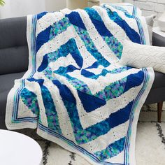 Yarnspirations is the spot to find countless free easy crochet patterns, including the Red Heart Twirling Crochet Throw. Browse our large free collection of patterns & get crafting today! Crochet Quilt, Free Crochet, Knit Crochet, Crochet Afghans, Crochet Blankets, Christmas Crochet Patterns, Easy Crochet Patterns, Crochet Crafts, Crochet Projects