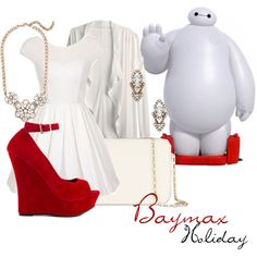 """""""Baymax Holiday Outfit// Rapunzel"""" by the-classic-disney-lovers on Polyvore"""