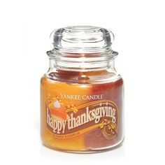 Yankee Candle 13 oz Swirl Candle HAPPY THANKSGIVING - a swirl of Be Thankful and Pumpkin Pie *** Continue to the product at the image link.