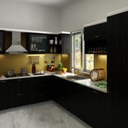 Storage for all your needs, ample sunlight and space, this space is a charm and set example for best modular kitchen. This dazzling kitchen is fun, stylish and functional.