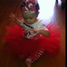 Olivia's 1st birthday outfit!