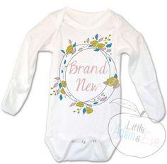 Brand New, Hospital Onesie, Baby Girl Onesie, Brand New, Hospital Onesie,
