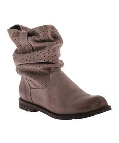 Another great find on #zulily! Taupe Poulsbo Leather Slouchy Boot #zulilyfinds