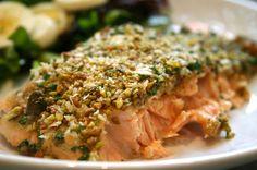 Salmone in crosta di pistacchio - ricetta