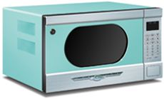 """ELMIRA - Choose from any of nine great not-so-standard Northstar colors """"Textured Black, Buttercup Yellow, Flamingo Pink, Robin's Egg Blue, White, Mint Green, Candy Red, Quicksilver or Bisque"""" your Northstar microwave will add a zap of color to your kitchen!"""