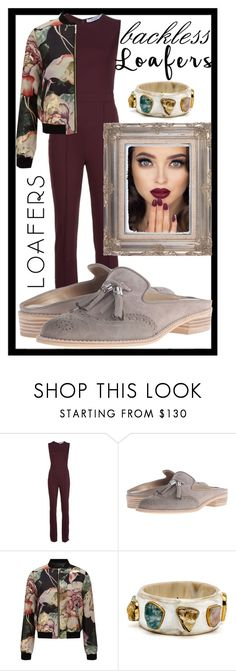 """backless loafers"" by teto000 ❤ liked on Polyvore featuring Givenchy, Stuart Weitzman, Miss Selfridge, loafers and backlessloafers"