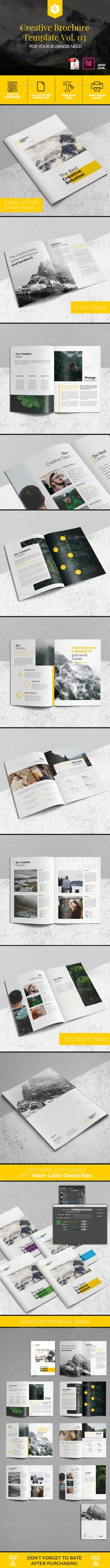 Creative Brochure Template InDesign INDD - 16 Pages A4 & US Letter