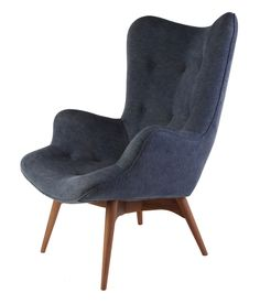 Replica Grant Featherston Contour Lounge Chair - Japanese Denim by Grant Featherston - Matt Blatt