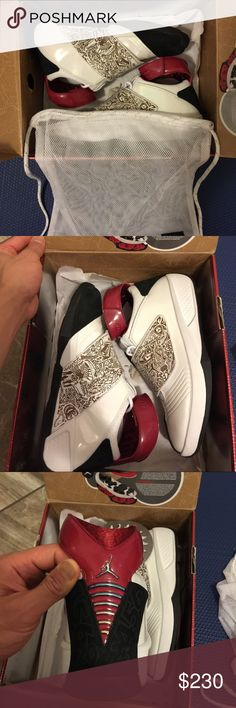 Brand new Jordan 20th condition: new make / manufacturer: Jordan model name / number: 20th original size / dimensions: 10.5 I am selling this brand new in box Jordan 20th. Come with the original box and shoe bag. $230. Guarantee Authtic. If you have any questions feel free to text 7025808093. No lowballers please. Jordan Shoes Athletic Shoes