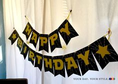 Star Wars Printable Happy Birthday Banner