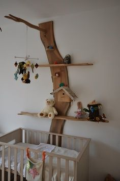 Clever woodland shelving