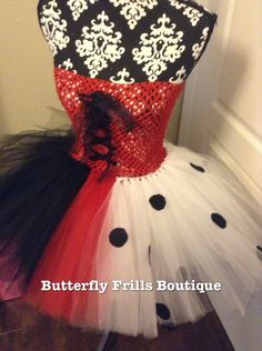 Cruella DeVille Inspired Tutu Dress