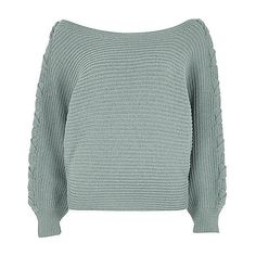 Light green batwing knit jumper ❤ liked on Polyvore featuring tops, sweaters, long knit sweater, tie sweater, knit jumper, batwing sweater and boatneck sweater