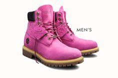 Botas de couro rosa pink na luta contra o câncer de mama – mas nao para mulheres