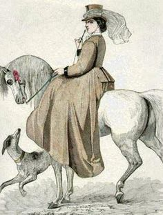 Retro Rack: Riding Habits from 1850 to Today. Equestrian costume. Petersons Magazine March 1862.