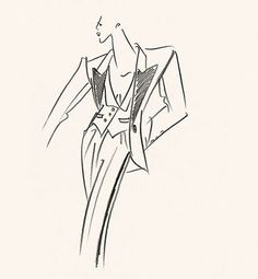 Original sketch of Tuxedo, Fall-Winter 1991.