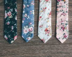 FLORAL TIES AND FLORAL TIES by MYTIESHOP on Etsy