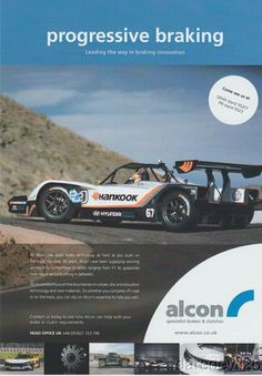 Rhys Millen and his Electric race car from the 2015 2016 Pikes Peak Hill Climb race in an Alcon brake ad