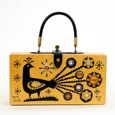 Enid Collins Peacock Purse now featured on Fab.