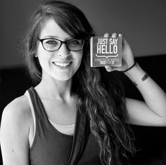 """Twenty-Four year old Rebe Brown came into the Homeless In Seattle office today and just said straight out, """"I want to help.""""   Rebe left with a stack of HinS """"Just Say Hello"""" stickers. Her goal is to get everySINGLE business in Fremont to put one in their store-front window, wowWOW!!!  Rebe you are REMARKABLE! Thank you for putting your kindness into action!  Fremont 7/1/2013 Store Front Windows, Just Say Hello, Four Year Old, Bipolar, Seattle, Goal, Healing, Action, Stickers"""