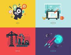 YOPPS' model of the creativity process #IDEA #SKETCH #BUILD #LAUNCH © YOPPS 2014
