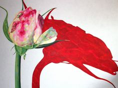 Punainen meri 160 x 120 cm akryyli Rose Buds, Paintings, Art, Art Background, Paint, Painting Art, Kunst, Performing Arts, Painting