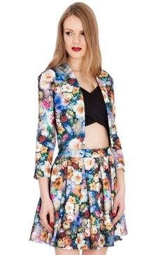 JK13A_front Stretches, Floral Prints, Casual, Jackets, Dresses, Fashion, Down Jackets, Vestidos, Moda
