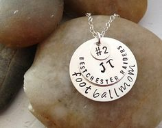 Football Mom Jewelry - Team Mom Jewelry - Hand Stamped Necklace - Personalized Team Necklace