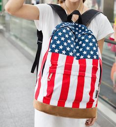 Designer Brand USA American Flag Backpack 2 Styles