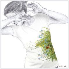 Maľované tričko s kvetmi ľanu – Linum – miu. T Shirt, Art, Supreme T Shirt, Art Background, Tee Shirt, Kunst, Performing Arts, Tee, Art Education Resources