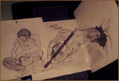 A hand draw an art by Yasser Ansari