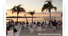 Beachfront dining at Loreleis in Islamorada