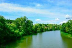Neckar im Sommer  #ludwigsburg Blick von der Lucien Tharradin Brücke Ludwigsburg Hoheneck