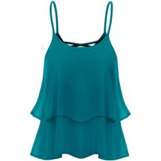 Thanth Strap Shirring Chiffon Cropped Tank Top Cami Blouse ($12) ❤ liked on Polyvore featuring tops, shirts, crop tank, crop tank top, crop top, chiffon tank and chiffon shirt