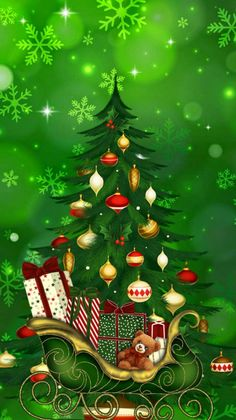 Cute Christmas Tree, Christmas Scenes, Merry Christmas And Happy New Year, Outdoor Christmas, Christmas Pictures, Christmas Holidays, Christmas Decorations, Hello Kitty Christmas, Nouvel An