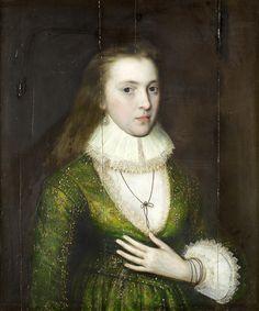 William Larkin attributed Portrait of a Lady, said to be Lady Mary Darrell (died 1598). ?circa 1610 Старинный Портрет. Исторический костюм XV-XVIII вв.. Обсуждение на LiveInternet…