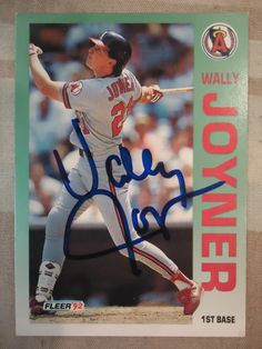 1992 Fleer #62 Wally Joyner (In Person)