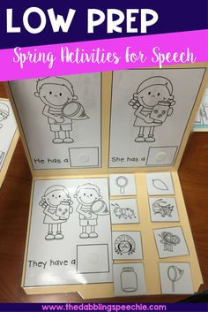 Need materials that are low prep and with a FUN spring theme? This set covers everything you need for your speech and language caseload. There are articulation, fluency, grammar, language and social skill activities. Perfect for the busy IEP season.