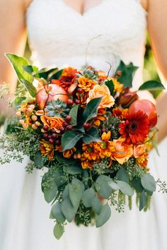 rustic, vintage fall wedding bouquet