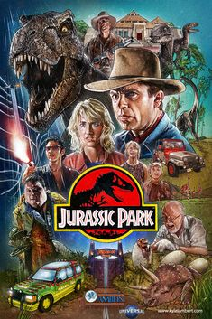 Jurassic Park Film PosterYou can find Jurassic park and more on our website. Jurassic Park Characters, Jurassic Park Poster, Jurassic Movies, Jurassic Park 1993, Jurassic Park World, Jurrassic Park, Park Art, Jurassic World Wallpaper, Dinosaur Drawing