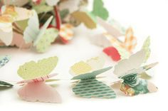 Butterfly Garland using the Pretty Party Collection by Crate Paper. Created by Pebbles in my Pocket.